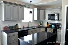 dark gray stained kitchen ts grey t island with white and antique cabinets black countertops light