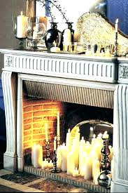 candles for fireplace mantel pillar candle holders s