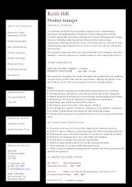 Software Product Manager Resume Templates At