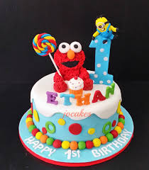 12 Elmo 1st Birthday Square Cakes Photo Elmo 1st Birthday Cake