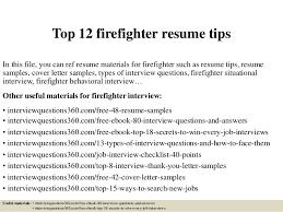 Firefighter Job Description For Resume Resume