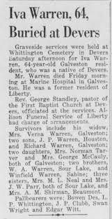 Death of Iva Warren 1954 - Newspapers.com
