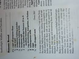 banana bread recipe from my old better homes and gardens cookbook