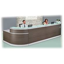 Double Glass Top Reception Desk - 190