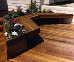 deck designs with benches