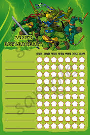 Ninja Turtle Potty Training Chart Printable Teenage Mutant Ninja Turtles Tmnt Theme By