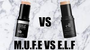 makeup forever foundation stick vs elf foundation stick full face review demo