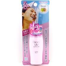biore uv bright face milk spf 50 sunscreen makeup base 30ml 1oz