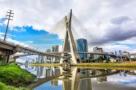 estaiada bridge in sao paulo brazil