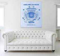 Oakland Coliseum Seating Chart Baseball Vintage Print Of Oakland Coliseum Seating Chart Oakland Athletics Baseball Blueprint On Photo Paper Matte Paper Or Stretched Canvas