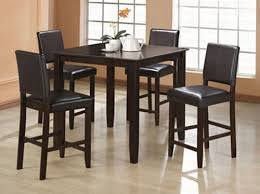 wylie counter height dining room set with black chairs within high plan 19