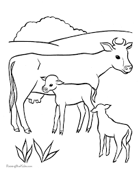 Small Picture Cow Coloring Page On The Farm Coloring Home