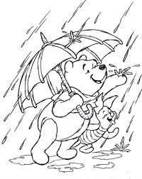Small Picture The pooh piglet coloring pages pooh and piglet loves rain coloring