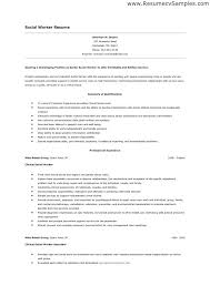 Social Work Resume Adorable Social Work Resume Objective Examples Canreklonecco