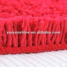 furry rugs microfiber floor carpet red bath mat chenille large bathroom memory foam set red bath mat
