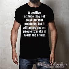 Positive Attitude Mens Hanes T Shirt