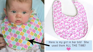 How to sew a simple <b>baby bib</b> by Gingercake - YouTube