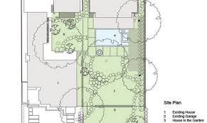 garden houses house layout plan glowing