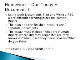 esw communication level active citizenship  hand in  using both documents plan and write a 750 word extended writing piece on human rights