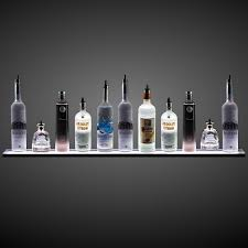 floating glass shelves with led lights wall mounted led liquor shelf with wireless on light up
