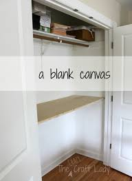 office in closet ideas. Home Office In A Closet The Crazy Craft Lady My Very Beginning. Design Interior Magazine Ideas