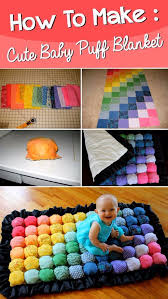 diy gifts for babies super cute baby puff blanket best diy gift ideas for