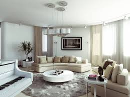 Modern Living Room Rugs Modern Living Room With Round Coffee Table And Round Area Rug