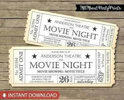 Diy Movie Ticket Invitations Want To Have A Movie Night Check Out