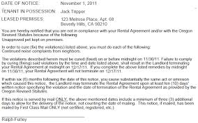 30 day termination letters oregon 30 day termination notice cause ez landlord forms