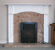 mdf fire surround marble hearth and back inset electric coal effect fire black