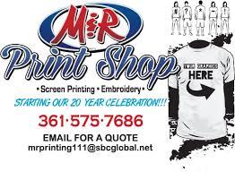 Sports Quote Magnificent M R Print Shop Sports Wear 48 N Navarro St Victoria TX