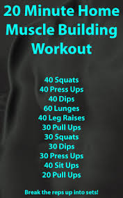 body part workouts beginner workout routines muscle building workout at home