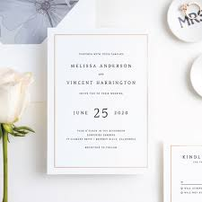 Wedding Invitation With Photo Modern Meets Vintage