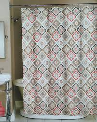 coral and brown shower curtain. awesome brown and grey shower curtain 49 for your curtains with coral v