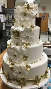 Fancy Cakes Elegant Gold White Wedding Cake Do You Facebook