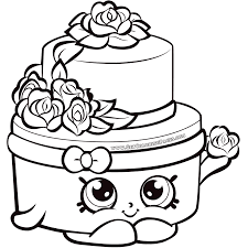 Coloring Pages Shopkins Printable Coloring Pages Cupcake Queen At