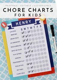 Interactive Chore Chart Printable Chore Charts For Kids Chore Chart Kids Charts