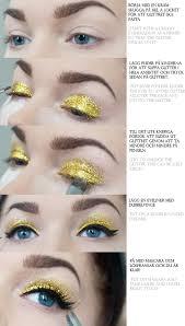glitter eye makeup tutorial cat eye tutorial new years makeup purple makeup gold eyeshadow looks glitter eyes glittering eye eye makeup