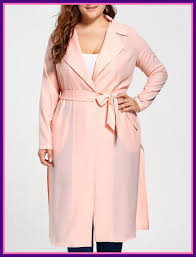 tie belt trench coat belt tie stunning plus size tie belt trench coat orangepink xl in pic for style and lost