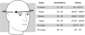 Cookie G3 Size Chart Cookie G3 Helmet