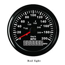 Ford Focus Red Cog Warning Light Universal Auto Car Gps Speedometer 200mph Red Led For Ford Focus 2 Motorcycle Car Boat Speed Gauge Speedo 85mm