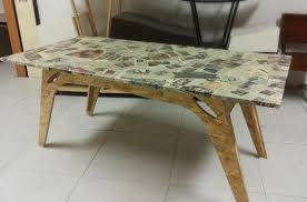 table recycled materials. Memories Table Made With Recycled Materials - 5 E