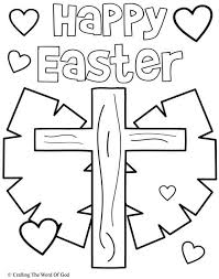 Happy Easter 3 Coloring Page Childrens Church Easter Colouring