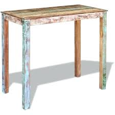 solid reclaimed wood dining table bar table solid reclaimed wood dining high breakfast kitchen dinner multi