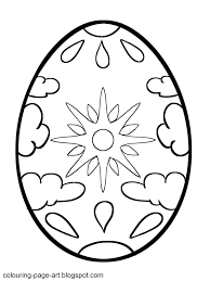 Small Picture Sun and Clouds Easter Egg Colouring Page Colouring Page Art