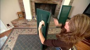 How to Build a Fireplace Screen from Shutters | Today's Homeowner