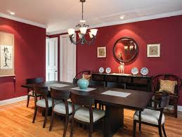 homey ideas dark red dining room fruits sculpture sets romantic white candles black upholstered chairs