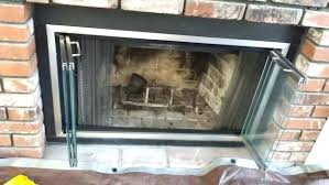 replacement fireplace glass doors for insert handles majestic