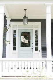 colored front doorsEight Fabulous Front Door Ideas  Ramshackle Glam