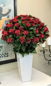 4 dozen long stem roses by french